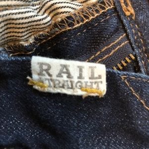 Madewell Jeans - Madewell Rail Straight Distressed Dark Wash Jeans